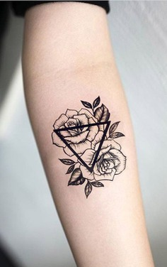 Salix Vintage Black Floral Rose Sunflower Tattoo