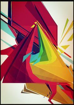 Digital Art – Stephen Lam | Webdesigning, blogging, hacking #abstract #lam #geometry #shapes #stephen