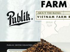 Publik Coffee #interactive #branding #site #logo #lockup #coffee #type #shadow