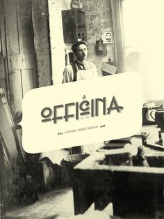 A OFFICINA - Furniture with a vintage inspiration Design by AER CREATIVE STUDIO - aercreativestudio.tumblr.com/ #logotype #moodboard #design #graphic #brand #furniture #vintage #typography