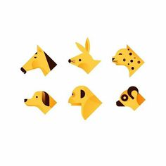 Romualdo Faura. rfauraSpots para Geeksme #animals #illustration #spots #icons #romualdofaura #horse #rabit #leopard #dog #chimpanzee #lemur