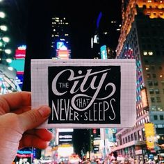 The city that never sleeps - by Joshua Noom #ny #lettering #typography