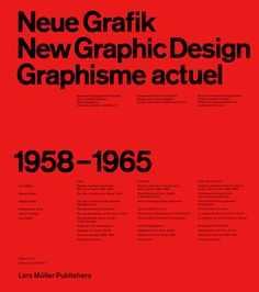 Neue Grafik/New Graphic Design/Graphisme actuel 1958–1965 | Lars Müller reprint via www.ingallery.ie