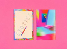 EXOTICS ZINE portfolio of chris golden #zine #colour #chris golden #exotics