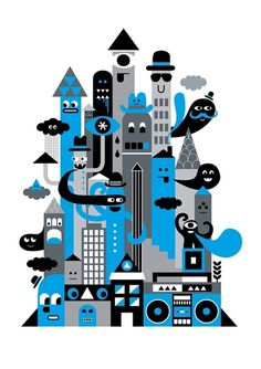 Illustration - Greg Straight Art & Design #greg #straight #illustration #rain #sneakers #characters