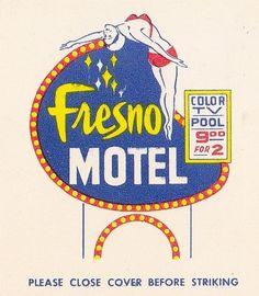 All sizes | Fresno MOTEL Diving Lady | Flickr - Photo Sharing! #design #retro #illustration #vintage #type