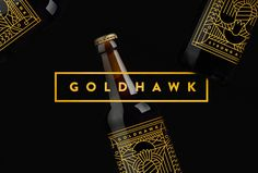 Goldhawk Ale by Don't Try Studio #logotype #logo #mark #gold #typography