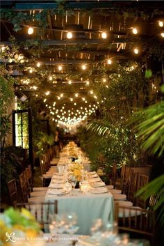 Perfect Reception indoors | Venue #outdoor #long #indoor #table