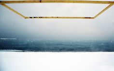 Minimal Art (Winter) #yellow #snow #photography #sea #minimal