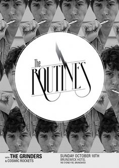 The Routines - General Creative #graphic design #typography #poster