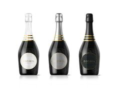 DECIBEL is a brand new Champagne designed in IBIZA, with electronic music and technology in its core. www.champagnedecibel.com By Grantipo w #bottle #packaging #design #black #decibel #champagne