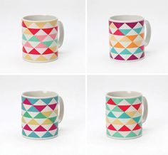 Google Reader #mugs #fun #colour #triangles