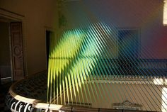 Gabriel Dawe and his art installation from textile #exhibition #textile #art #installation