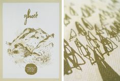 • Ghost : Landland #screen print #ghost #2 color #land land #dan black