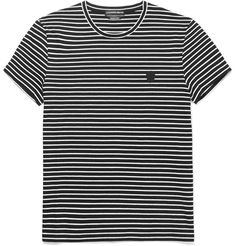 ALEXANDER MCQUEEN Slim-Fit Striped Cotton T-Shirt