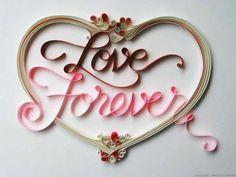 sabeena+heart.jpg 600×450 pixels #typographic #love #quilling #typography