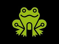 Dribbble - Ribbit by Chris Parks #vector #iconography #logo #frog #green