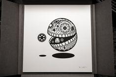 Pop-Culture Calavera Prints | Colossal #white #koshi #black #illustration #jonathan #and