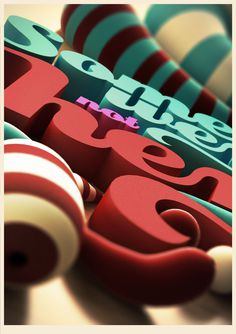 3D Typography on the Behance Network