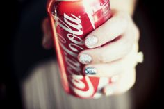 The cherry blossom girl #coke #glitter #silver #coca #nailpolish #cola