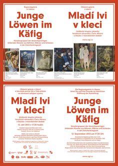 Mladí lvi v kleci - Oblastní galerie v Liberci - Belavenir Design Studio #exhibition #poster #liberec