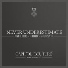 A presence and style never to be underestimated& #CapitolCouture