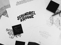 Scoundrel & Rogue Club on Behance #lettering