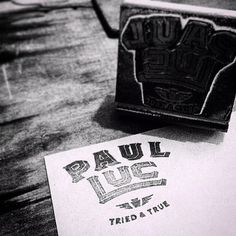 Branding for @paul.luc upcoming album release. November 18th at paulluc.com, iTunes, Spotify, Amazon Music, Google Play. (at Brooklyn, New Y #keystone #white #& #type #black #vintage #stsmp #logo