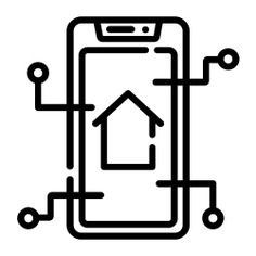 See more icon inspiration related to home automation, smart home, real estate, electronics, mobile phone, buildings, smartphone, cellphone and technology on Flaticon.