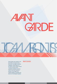 Avant Garde Graph Poster