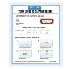 OH! CLEAN #teeth #hygiene #information #infographic #design #dental #dentist