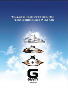 Graphics #sky #dive #advertising