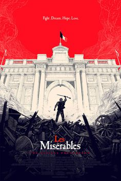 Beautiful Les Mis poster by Olly Moss