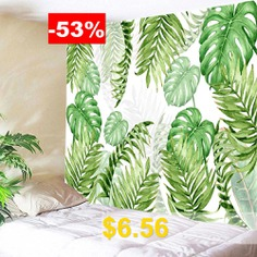 Tropical #Leave #Print #Tapestry #Wall #Hanging #Decoration #- #GREEN