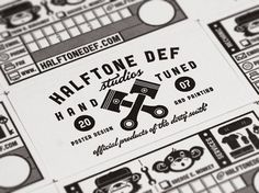 Halftone Def Business Cards - FPO: For Print Only #white #business #letterpress #black #mono #and #cards
