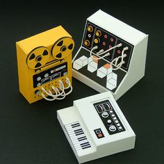 Electronic Ensemble #miniatures #synth #craft #art #paper