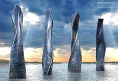 Dynamic Tower (Dubai), It will modify itself to the sun, wind, weather and views by rotating every floor independently. This building will n #building #architecture #house #interesting
