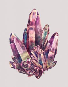 Mineral Admiration: Watercolor Paintings of Crystals by Karina Eibatova #painting #illustration #crystals