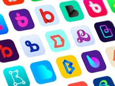 Ios app icons #branding #sign #design #logo #app #ios
