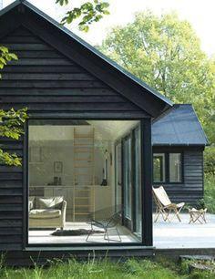 Black with oversized windows