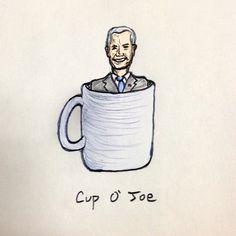 Biden my time #coffee #drawing #joe