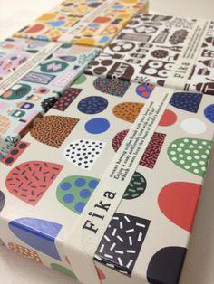 Hanna and Leena made packaging design for Isetan department store's new Fika Scandinavian deli in Tokyo. #packaging #graphic design #inspi