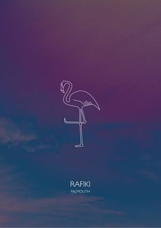 Poster — FRICKER #flamingo #sky #bird #art #poster #music #type #layout