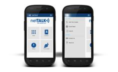netTALK Smartphone App (Android) on the Behance Network #calling #menu #design #app #android
