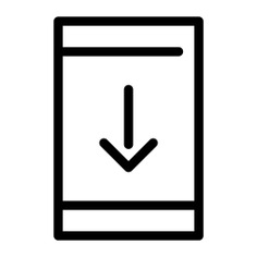 See more icon inspiration related to download, mobile phone, down arrow, technology, cellphone and multimedia option on Flaticon.