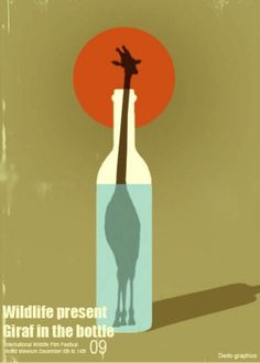 Giraf in a Bottle by Dedo | Society6 #in #giraf #a #bottle
