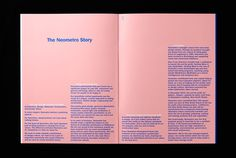 Print with pink paper detail designed by Studio Hi Ho for Neometro and their property development Nine Smith Street #pink #book #type #layout #editorial #typography