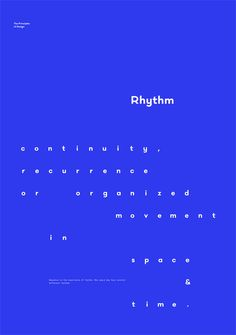 Rhythm – The Principles of Design poster serie by Gen Design Studio