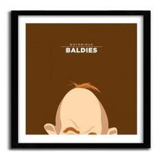 Notorious Baldie SLOTH - THE GOONIES by Mr Peruca #print