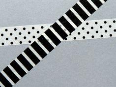 Present&Correct Monochrome Masking Tapes #stationary
